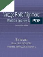 Vintage Radio Alignment