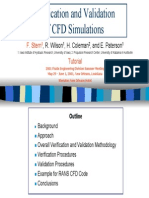 Verification and Validation of CFD ASME