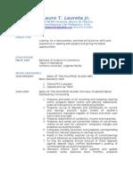 Jobswire.com Resume of laurolaureta