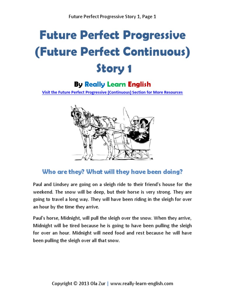 Future Perfect Progressive Story 1 | Question | Semantics
