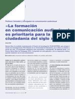 La formación en comunicación audiovisual es prioritaria para la ciudadanía del siglo XXI
