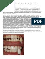 Trois Fa?ons D'Obtenir Des Dents Blanches Lumineuses