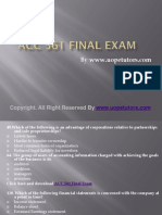 ACC 561 Final Exam Latest University of Phoenix Tutoring.