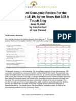 2015 0622 Hale Stewart Us Equity and Economic Review for the Week of June 15 19 Better News but Still a Touch Slog