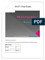 FIN 571 Final Exam Latest Question Answers