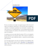 History of Job Satisfaction