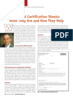 Material Certification Sheets