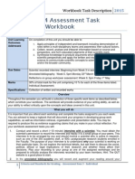 SEB104 Workbook Assessment Sheet Feb 2015