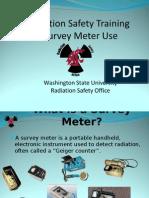 Radiation Safety Training Survey Meters