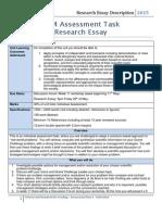 SEB104 - Research Essay