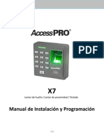 Manual x7 Accesspro Español