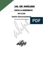 Manual de Análisis Estático y Dinámico Según NTE E.030 [AHPE]