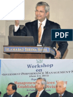 Pictures from Workshopon Government Performance Management, Islamabad, Pakistan