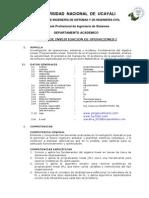 Silabo de Investigacion de Operaciones 2015 - i