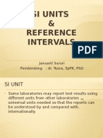 SI Unit & Nilai Rujukan