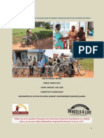 Bicycle Project Report June 2015- Mpigi District