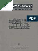 NASSARRE. Revista Aragonesa de Musicología