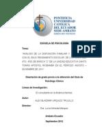 """""""Análisis de La Disfunción Familiar y Su Relación"""