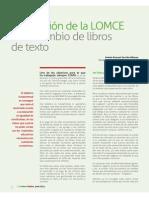 Implicación de La LOMCE en El Cambio de Libros de Texto. Revista PadresyMadres116.PDF