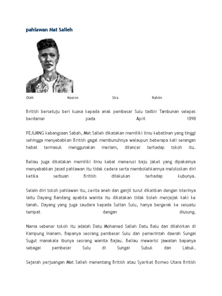 Pahlawan Mat Salleh