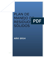 SI O SSMA 004 Plan Manejo de Residuos