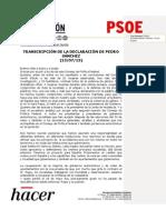 Declaración de Pedro Sánchez en el Consejo de Política Federal del PSOE (PDF)