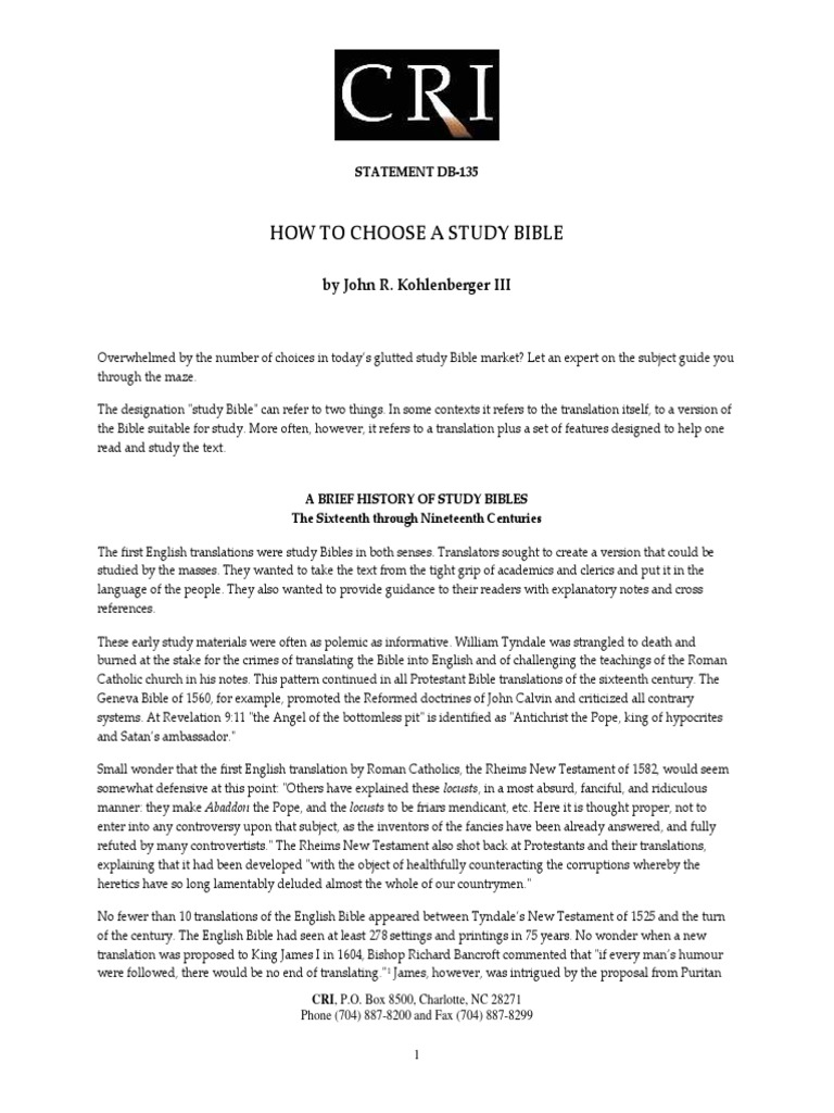 Db135 how to choose a study bible by john r kohlenberger iiipdf db135 how to choose a study bible by john r kohlenberger iiipdf new international version study bible fandeluxe Images