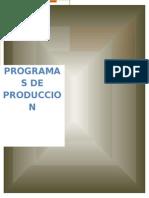 Progrmas de Produccion Terminado