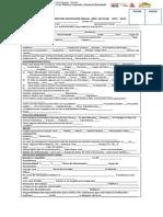 Ficha de Inscripción Inicial