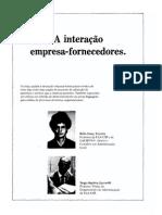 TEIXEIRA, Hélio Janny; ZACARELLI, Sérgio Baptista. a Interação Empresa Fornecedores . Revista de Administração. v. 21, Jan,Mar, 1986.