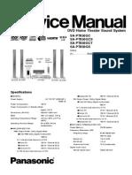 Panasonic DVD Home Theater Sound System SA-PT850-SA-PT850GCS-SA-PT850GCT-SA-PT850GS Parts and Service Manual