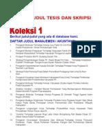 Download Daftar Judul Tesis Dan Skripsi by jimanjaya SN27146345 doc pdf