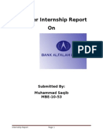 Intership Report on Bank Alfalah Limited