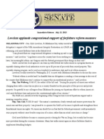 Loveless Applauds Congressional Support of Forfeiture Reform Measure