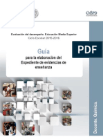 Guía Evaluación desempeño docente Química