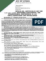 LEY 27023 - MODIFICACIONES D.L 19990
