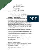 LEY 28071 MODIFICACIONES DL 19990