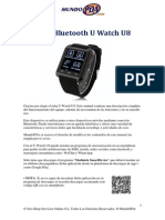Manual Reloj Bluetooth U Watch U8