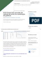 0137-Como Tirar Proveito de Valores de Erros Na Construção de Gráficos _ Usuários Do Excel