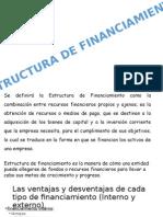 Diapositivas de la  Estructura de Financiamiento