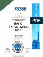 CPR & Austswim Certification