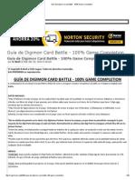 Guía de Digimon Card Battle - 100% Game Completion