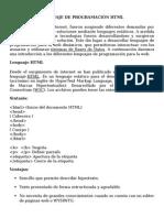 Lenguaje de Programación HTML