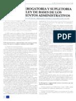 Eficacia Derogatoria y Supletoria de La LBPA