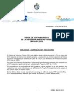 ÍNDICE DE VOLUMEN FISICO DE LA INDUSTRIA MANUFACTURERA MAYO DE 2015