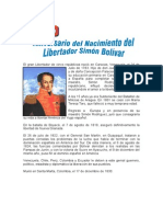 24 de JULIO (2) - Aniversario Del Nacimiento Del Libertador Simón Bolívar.