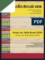Anais do Jalla Brasil 2010