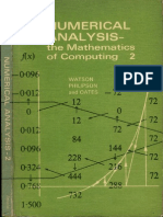 Numerical Analysis, The Mathematics of Computing, Volume 2, w. a. Watson, t. Philipson, p. j. Oates