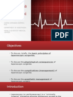 Anesthesia Management for Laparoscpic Surgery