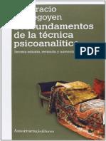Etchegoyen, Horacio - Los Fundamentos de La Tecnica Psicoanalitica